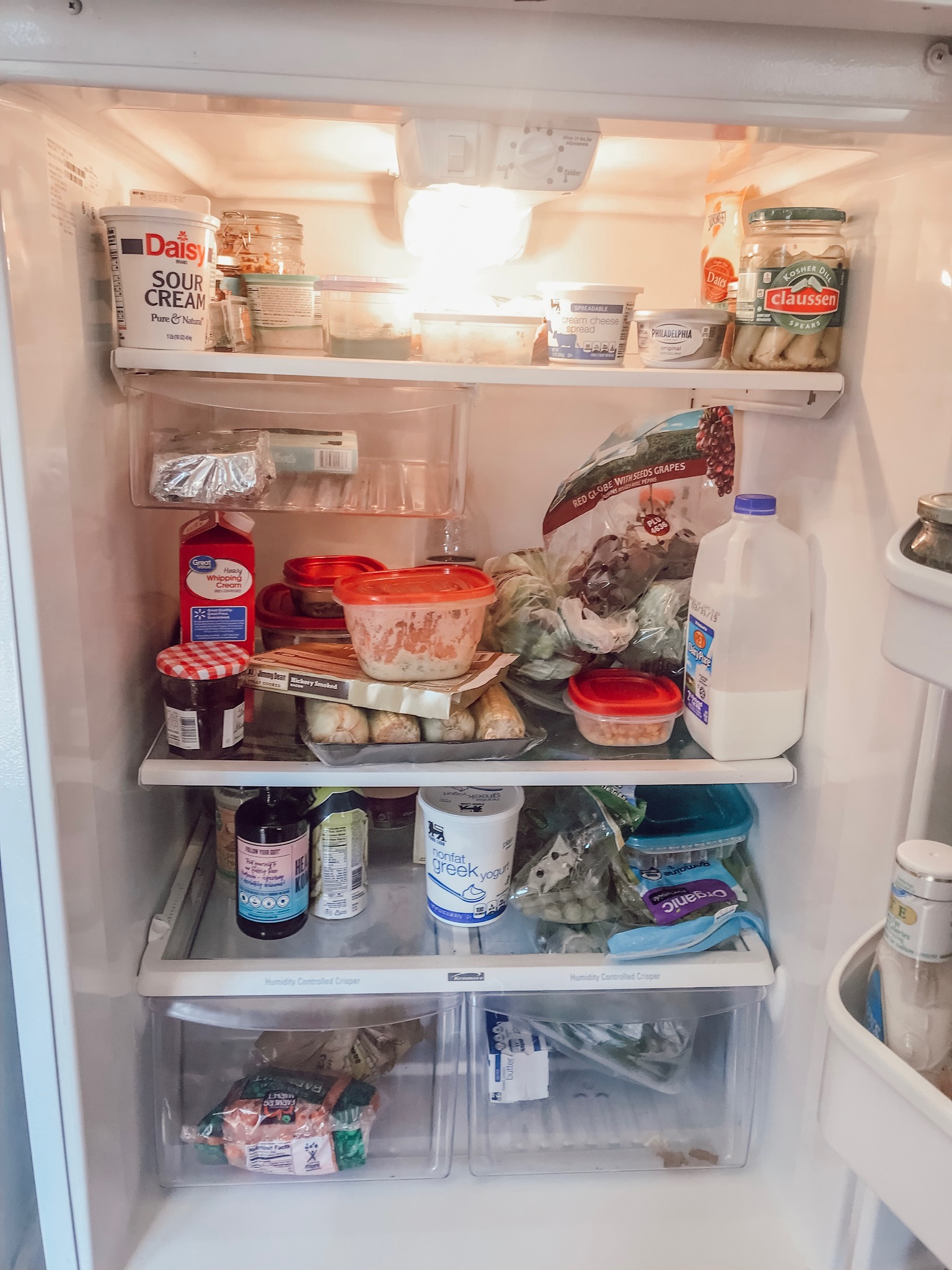 how to organize your fridge realistically before and after pictures